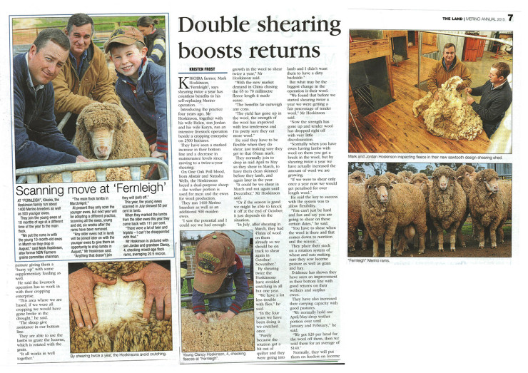 Double shearing boosts returns