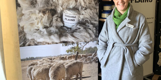 Rachel Canfield of Yuruga Plains Yarns at the Australian Sheep and Wool Show